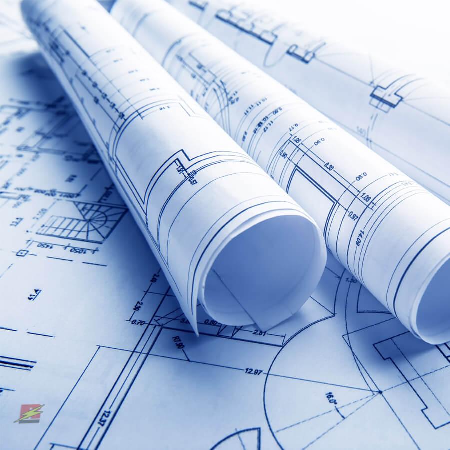 plan de construction et électricien